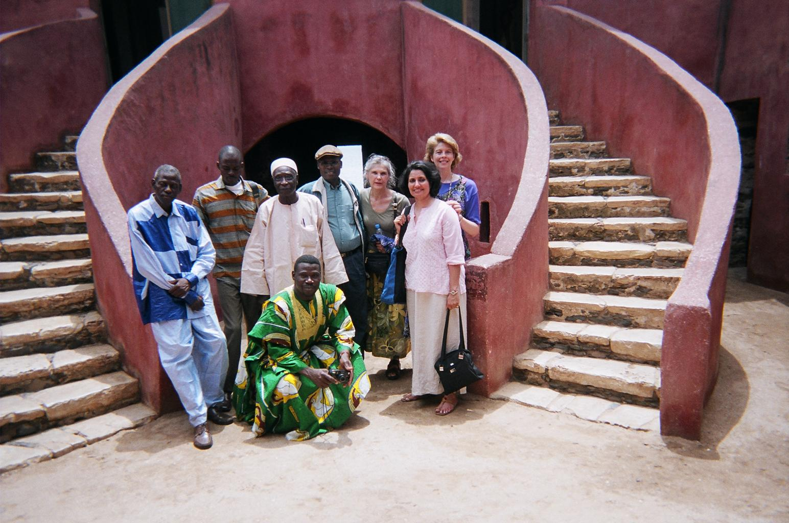 with_Bahai_friends_on_Goree_Island_07-2005_12